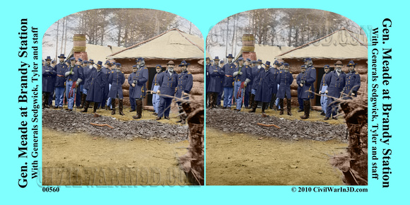 00560 - Gen. Meade at Brandy Station; With Generals Sedgwick, Tyler and staff [LC-DIG-cwpb-00560]