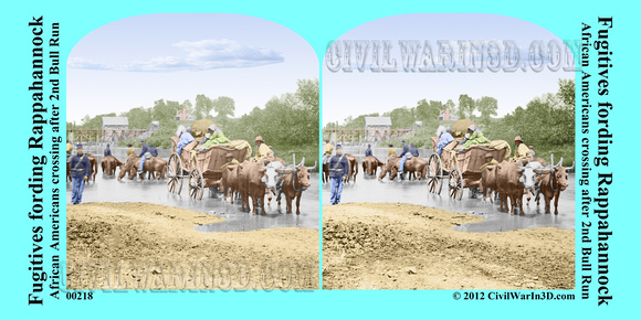 00218 - Fugitives fording Rappahannock; African Americans crossing after 2nd Bull Run (LC-DIG-cwpb-00218)