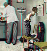 """Before the Shot"" by Norman Rockwell in 3D"