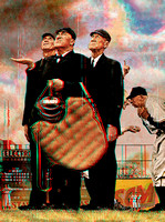 """Bottom of the Sixth"" by Norman Rockwell in 3D"