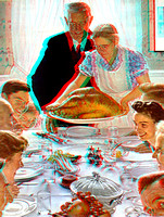 """Freedom from Want"" by Norman Rockwell in 3D"