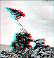 Iwo Jima in 3D with glasses
