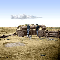 "Union pickets in front of the Rebels' Fort Mahone (""Fort Damnation"") on the Petersburg Siege Line, April 1865 - 02585"