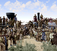 I10079 - Golden Spike – Completion of Transcontinental Railroad, May 10, 1869