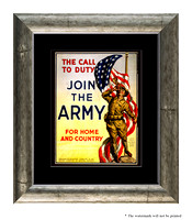 The Call To Duty, Join The Army For Home And Country - 3g07565_11x14