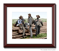 Three Confederate Prisoners, Gettysburg, PA; July 1863 - 01450