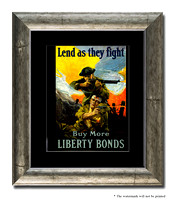 Lend As They Fight - Buy More Liberty Bonds - 3g09856_11x14