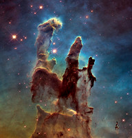 """Pillars of Creation"" - M16, Eagle Nebula, NGC 6611 - hs-2015-01-c"