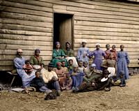 01005 - African Americans at Foller's House, Cumberland Landing, VA
