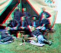 01009 - Staff of Gen. Porter; Lt. George A. Custer reclining [LC-DIG-cwpb-01009]