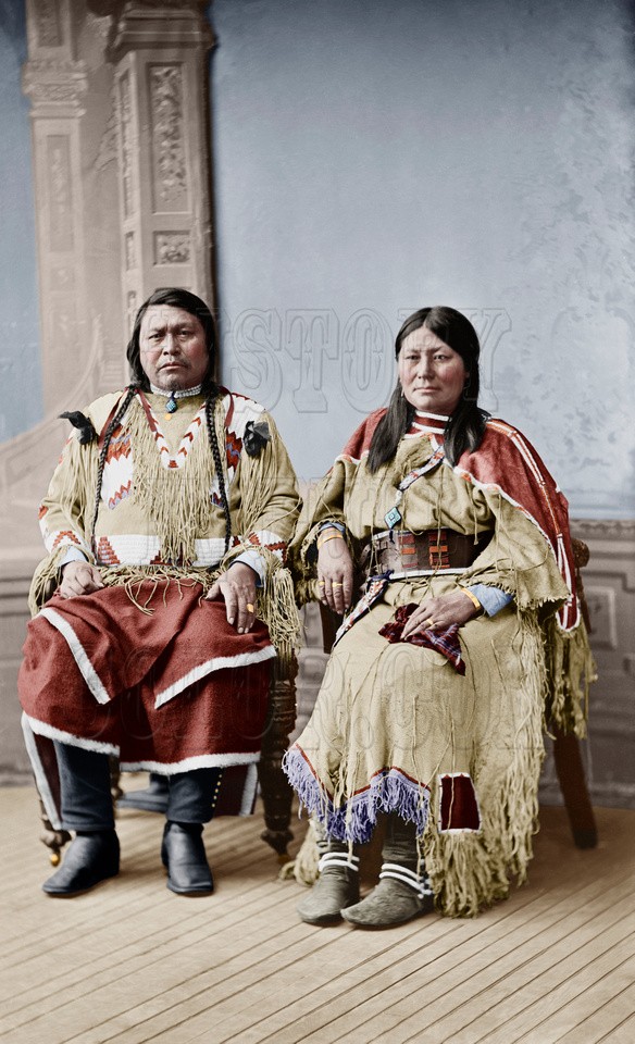 History In Full Color: People &emdash; Chief Oouray and Chipeta 04477