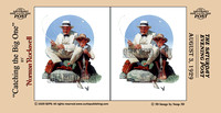 """Norman Rockwell"", Rockwell, 3D, ""Saturday Evening Post"", ""illustration"", ""American artist"", nostalgia, fishing, grandfather,family"