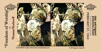 """Norman Rockwell"", Rockwell, Freedom, Worship, Religion, peace, ""war bonds"" catholic, jew, protestant, 3D"
