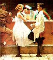 """After the Prom"" by Norman Rockwell in 3D"