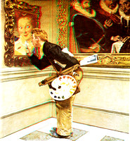 """Art Critic"" by Norman Rockwell in 3D"