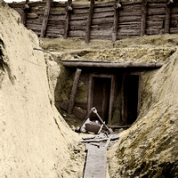"02576 - Entrance to mine in Fort Mahone, intended to undermine Fort Sedgwick"", Petersburg, Va"