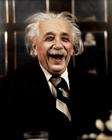 Albert Einstein Laughing