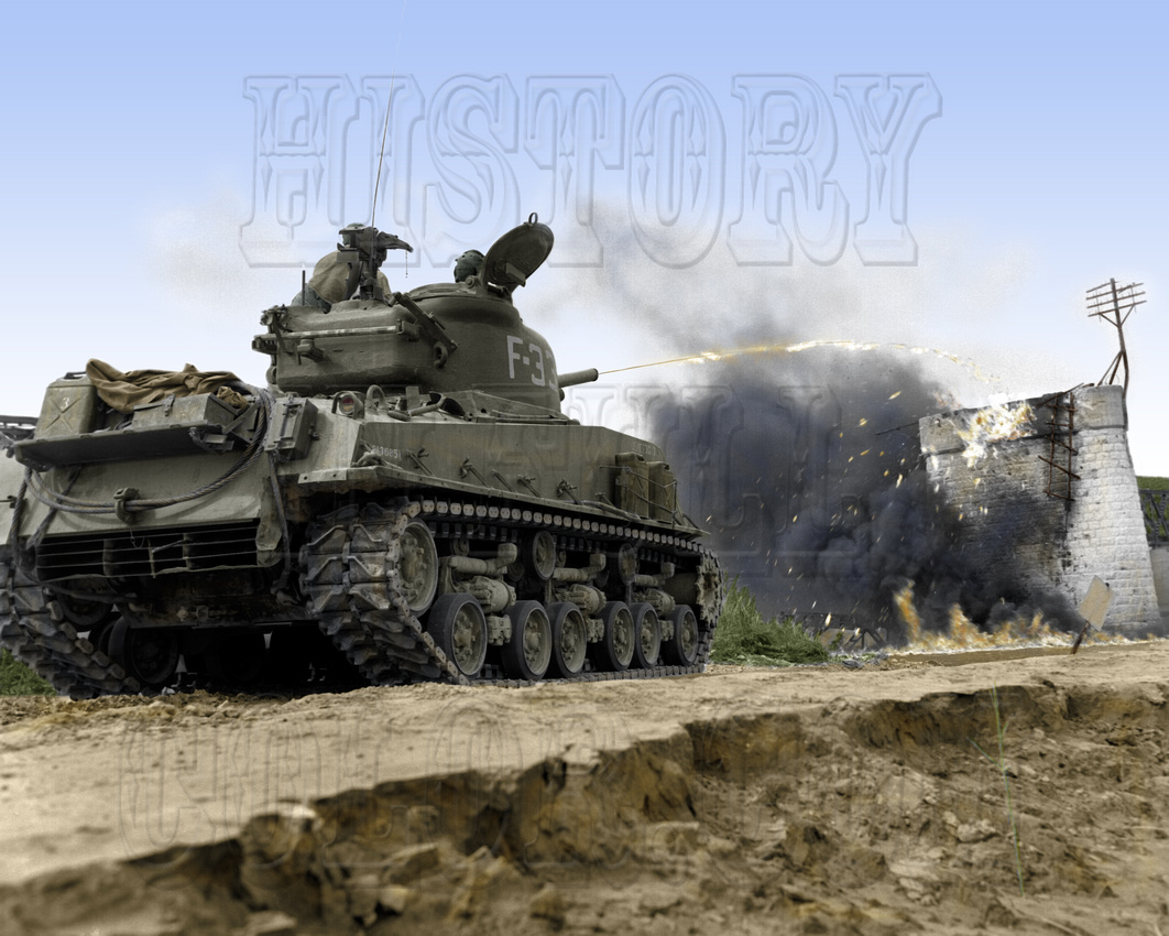History In Full Color: Military &emdash; I10020 - M-4 A3R3 Sherman Tank with Flamethrower