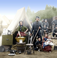 01663 - Tent life of the 31st Penn. Inf. (later, 82d Penn. Inf.) at Queen's farm, vicinity of Fort Slocum, Washington, District of Columbia
