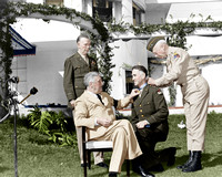 #26 President Roosevelt with Generals: Marshall, Wilbur (kneeling) and Patton