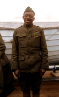 Sgt. Henry Johnson of the 369th poses wearing the Cross of War, awarded for bravery in an outnumbered battle against German force
