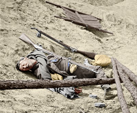 02539 - A Dead Rebel Soldier; Storming of Petersburg, VA; April 3rd, 1865 [LC-DIG-cwpb-02539]