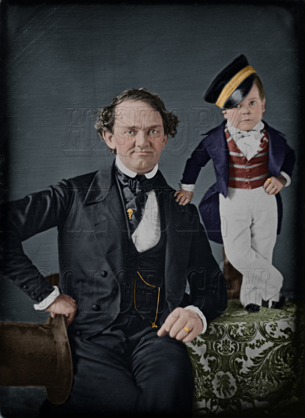History In Full Color: People &emdash; P T Barnum and General Tom Thumb