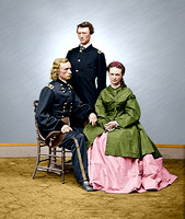 4190978514 - The Custer's; Gen. G.A. Custer; Libbie Custer; Lt. Tom Custer (NARA-4190978514 )