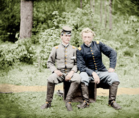 00156 - Capt. Custer of the 5th Cavalry; With Lt. Washington, a prisoner and classmate [LC-DIG-cwpb-00156]