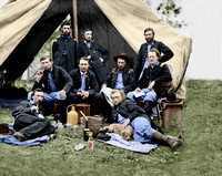 01009 - Staff of Gen. Andrew Porter; Lt. George A. Custer reclining [LC-DIG-cwpb-01009]