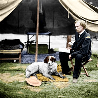 01553 - Lt. George Custer with dog; The Peninsular Campaign, May-August 1862 [LC-DIG-cwpb-01553]