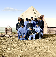 02019 - Soldier Group in Winter Camp; Unknown Location [LC-DIG-cwpb-02019]