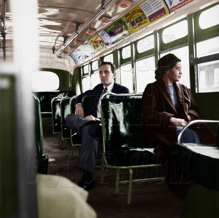 I10035 - Rosa Parks Riding Bus after Supreme Court decision