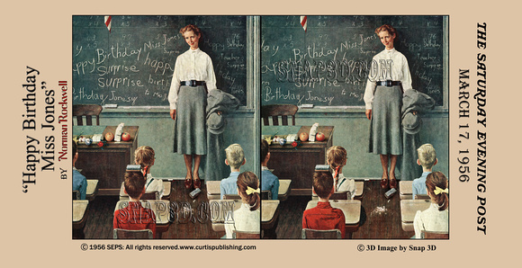History In Full Color 3D Norman Rockwell Stereo Cards – History of Birthday Cards