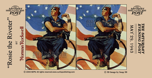 history in full color 3d norman rockwell stereo cards rosie the riveter by norman rockwell. Black Bedroom Furniture Sets. Home Design Ideas