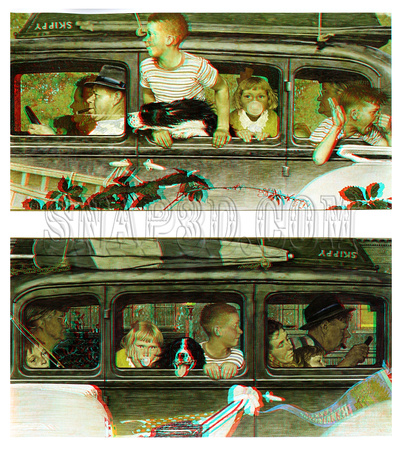 """Going and Coming"" by Norman Rockwell in 3D"