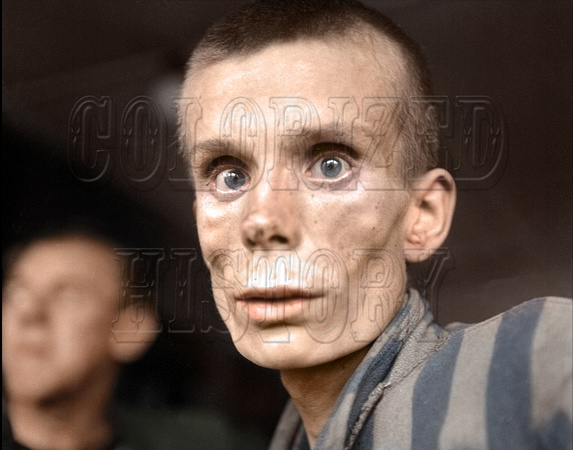 18 year old Russian boy being liberated from Dachau