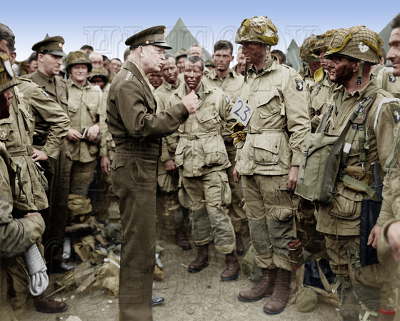 Eisenhower just before D-Day invasion