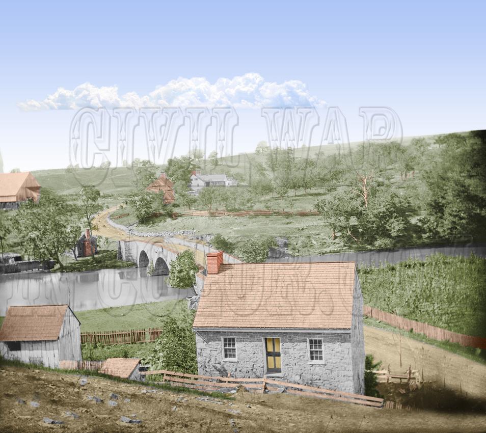 00271 - Bridge on the Boonsboro Pike; Middle Bridge - Antietam, MD, 1862 (LC-DIG-cwpb-00271)