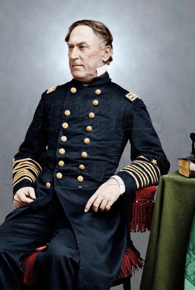 05210 - Rear Adm. David G. Farragut; 'Damn the torpedoes.  Full Speed ahead!' [LC-DIG-cwpb-05210]