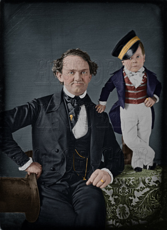 P T Barnum and General Tom Thumb