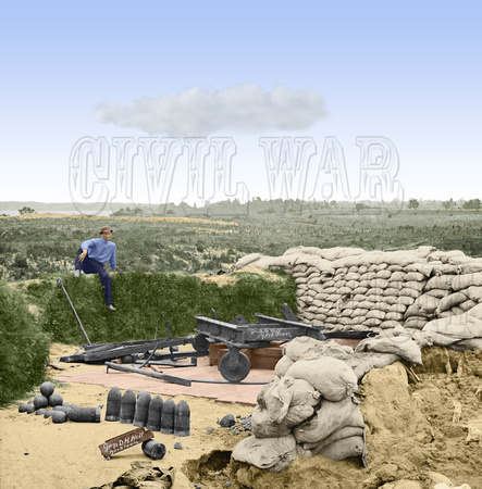 01601 - Captured Confederate Fort; Occupied by General Hill; Yorktown, VA 1862 [LC-DIG-cwpb-01601]