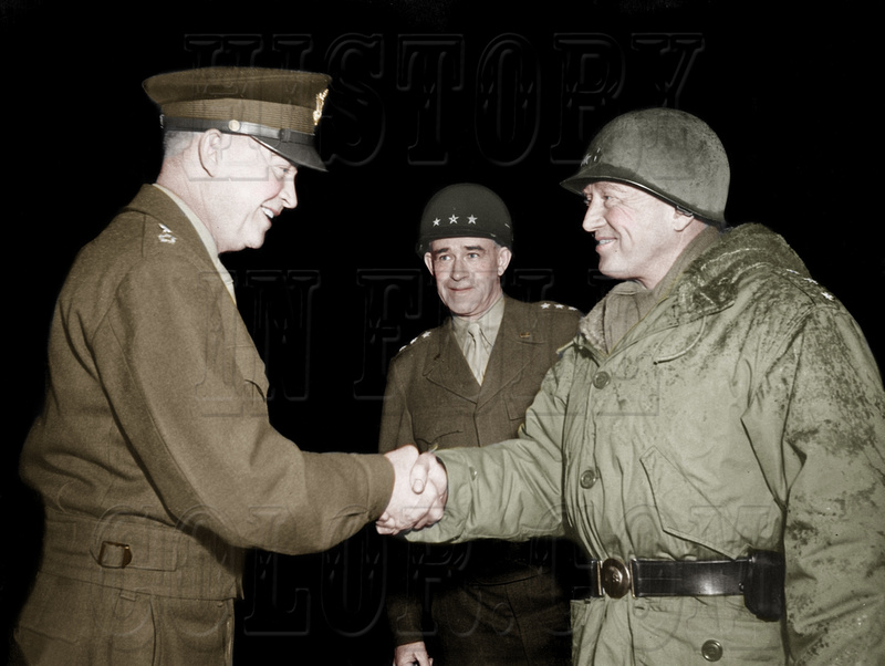 History In Full Color: Military &emdash; Generals  Eisenhower, Bradley and Patton