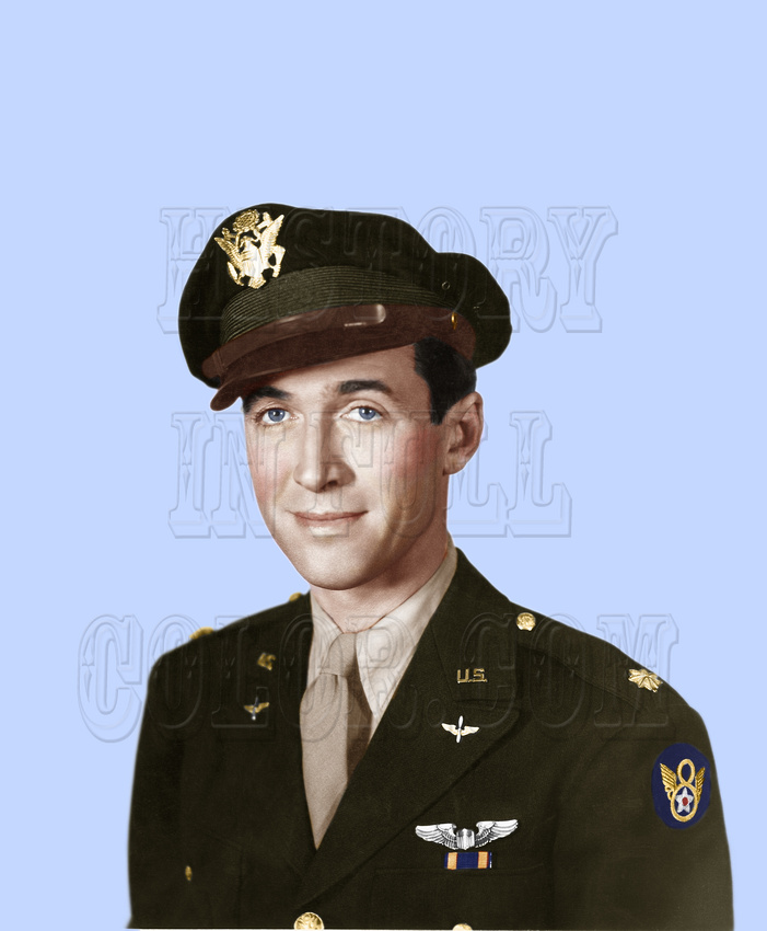 History In Full Color: Military &emdash; Major Jimmy Stewart