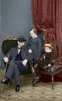 19235 - Willie and Tad Lincoln with cousin Lockwood - 1861