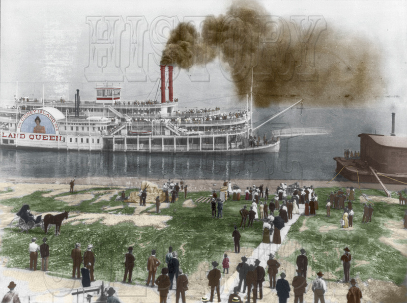 "History In Full Color: Additional Colorized Images &emdash; ""Island Queen"",  Louisville, KY"