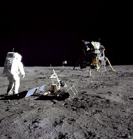 Aldrin Looks Back at Tranquility Base - GPN-2000-001102