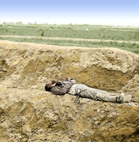 02541 - Dead Confederate soldier, Petersburg, Virginia, April 1865