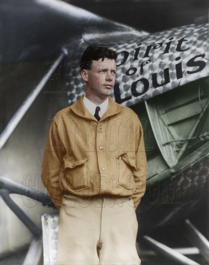 History In Full Color: People &emdash; Charles Lindbergh and the Spirit of St. Louis - 3a23920