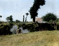 GIs from the 79th I.D. fighting in bocage terrain, Contentin Peninsula, Mid July